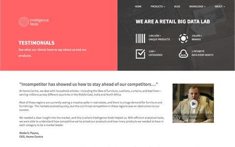 Screenshot of Developers Page intelligencenode.com - Client Testimonials   Intelligence Node - captured Nov. 13, 2016