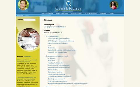 Screenshot of Site Map Page centerdata.nl - Sitemap | CentERdata.nl - captured Sept. 29, 2014