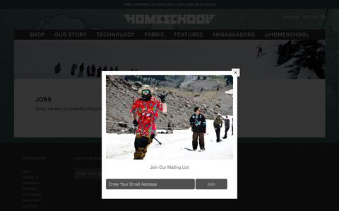 Screenshot of Jobs Page homeschoolouterwear.com - JOBS – Homeschool Outerwear - captured March 30, 2016