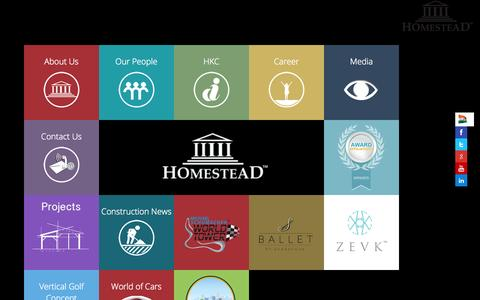 Screenshot of Home Page homesteadinfra.com - Homestead Infrastructure Development | Boutique Branded Residencies | Luxury | Premium | Exclusive Housing, Flats & Apartments in Gurgaon/Delhi NCR | India - captured Jan. 23, 2015