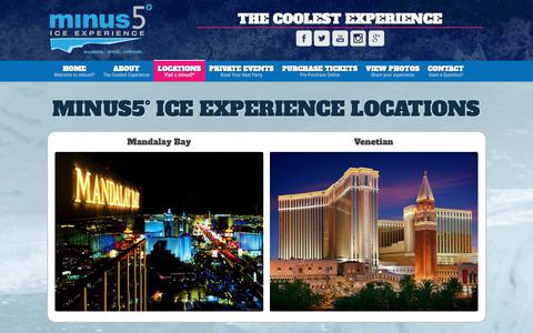 Screenshot of Locations Page minus5experience.com - minus5° Locations – minus5 Ice Experience - captured Sept. 28, 2018