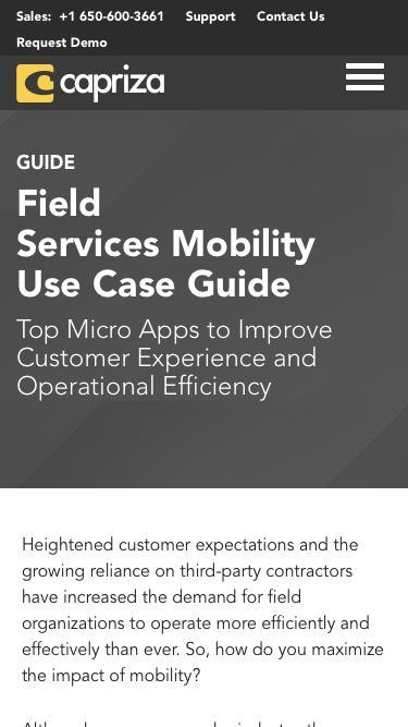 Mobile-Enabling Field Service Teams | Capriza