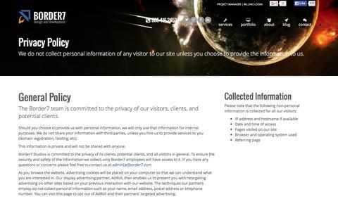 Privacy Policy | Border7 Studios