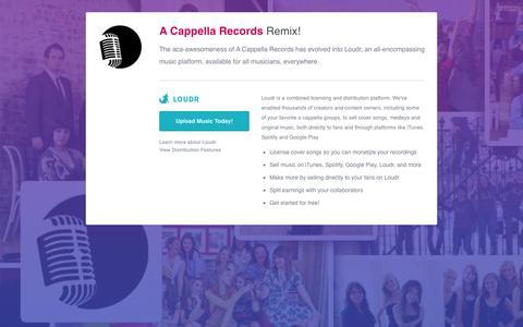 Screenshot of Terms Page acappellarecords.com - A Cappella Records - captured July 10, 2016