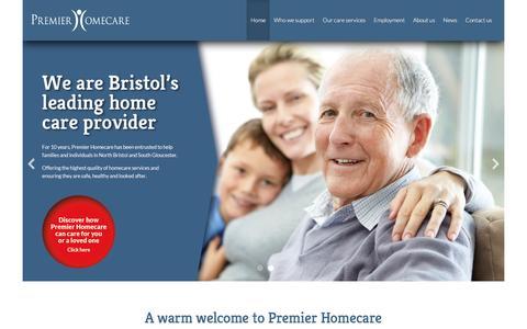 Screenshot of Home Page premier-homecare.com - A warm welcome to Premier Homecare   Premier Homecare - captured Dec. 10, 2015