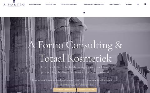 Screenshot of Home Page afortio.nl - A Fortio Consulting & Totaal Kosmetiek   A Fortio Consulting - captured July 16, 2018