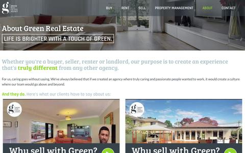 Screenshot of About Page grea.com.au - About Green Real Estate - Green Real Estate Agency - captured Sept. 20, 2017