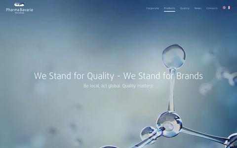 Screenshot of Products Page pharma-bavaria.com - Products - Pharma Bavaria International - captured July 30, 2017