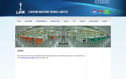 Screenshot of Jobs Page lakshmimach.com - Careers - LAKSHMI MACHINE WORKS LIMITEDLAKSHMI MACHINE WORKS LIMITED - captured July 13, 2017