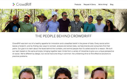 Screenshot of Team Page crowdriff.com - CrowdRiff Lens     Team - captured Oct. 28, 2014