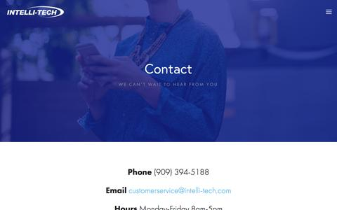 Screenshot of Contact Page intelli-tech.com - Contact — Intelli-Tech - captured Sept. 19, 2018
