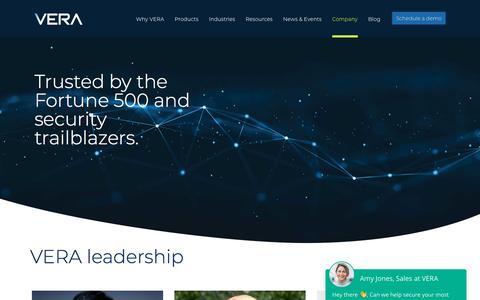 Screenshot of About Page Team Page vera.com - Leadership - Vera - captured Jan. 10, 2020