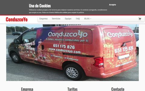 Screenshot of Home Page conduzcoyo.com - Servicio de choferes y conductores para Madrid | ConduzcoYo - captured Jan. 30, 2016