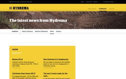 Screenshot of Press Page hydrema.com - Hydrema  - News - captured July 19, 2016