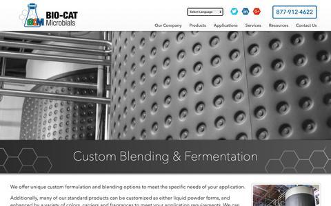 Screenshot of Services Page bcmicrobials.com - Custom Microbe Blending & Formulation | BIO-CAT Microbials - captured Oct. 22, 2018