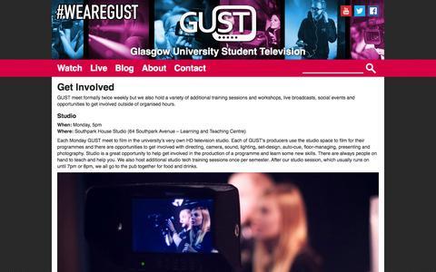 Screenshot of Signup Page gust.tv - Get Involved | GUST - captured Jan. 29, 2016