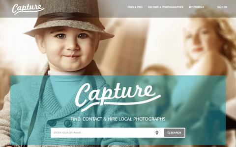 Screenshot of Home Page capturephotographers.com - Local Photographers Ready For You | Capture - captured Dec. 7, 2015