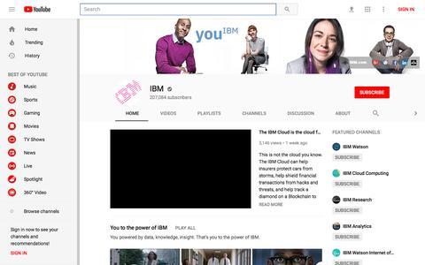 IBM - YouTube - YouTube