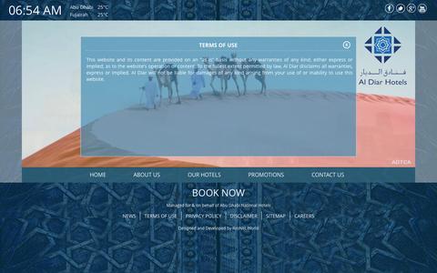 Screenshot of Terms Page aldiarhotels.com - Terms of use - Al Diar - captured Oct. 29, 2014