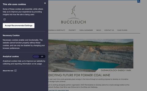 Screenshot of Case Studies Page buccleuch.com - Glenmuckloch Energy Park | Case Studies | Buccleuch - captured Aug. 4, 2018
