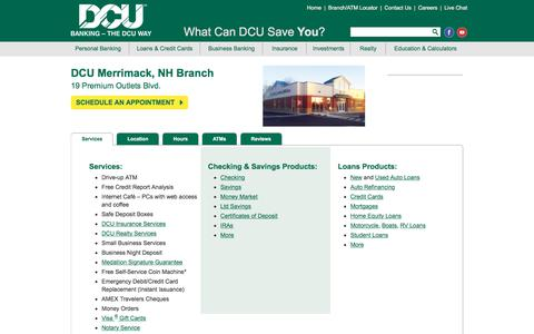 DCU Branch Location in Merrimack | New Hampshire