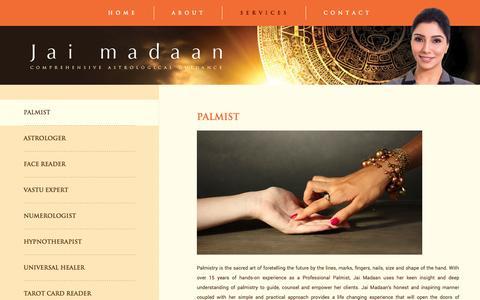 Screenshot of Services Page jaimadaan.com - Services | Jaimadaan - captured Oct. 29, 2014