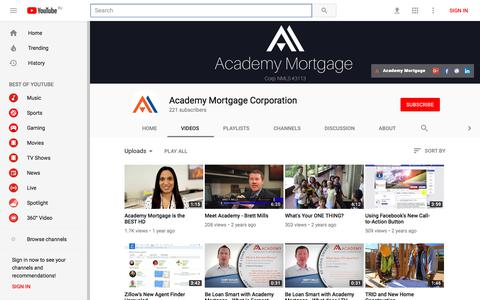 Academy Mortgage Corporation - YouTube - YouTube
