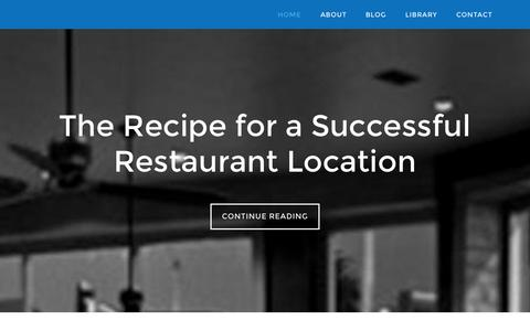 Screenshot of Home Page restaurantrealestateadvisors.com - Restaurant Real Estate Advisors - The Recipe for a Successful Restaurant Location - captured Oct. 8, 2014