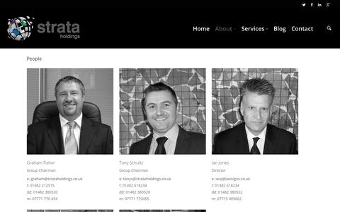 Screenshot of Team Page strataholdings.co.uk - People | Strata Holdings Limited - captured Nov. 5, 2014