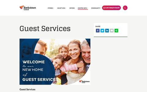 Screenshot of Contact Page bankstowncentral.com.au - Guest Services - Bankstown Central Shopping Centre - captured June 27, 2018