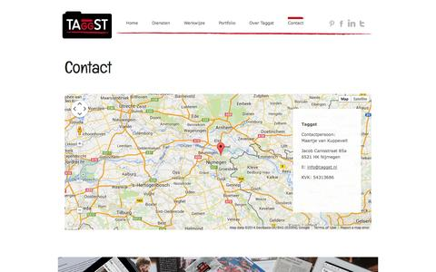 Screenshot of Contact Page taggst.nl - Contact - Taggst - captured Oct. 27, 2014