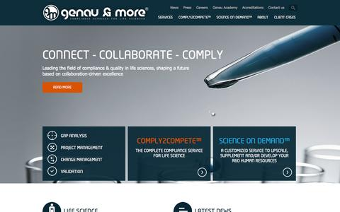 Screenshot of Home Page genauandmore.com - Genau & More   Innovative consulting and services partner - captured Oct. 2, 2014