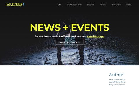 Screenshot of Press Page pathfindertours.co.nz - New Zealand Holidays & tours - Pathfinder Tours Blog page - captured Sept. 27, 2018