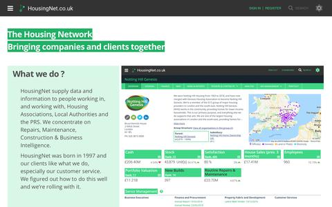 Screenshot of Home Page Maps & Directions Page housingnet.co.uk - HousingNet: Housing Association, Local Authority & Private UK Housing Data - captured Nov. 10, 2018