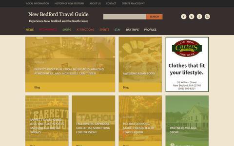 Screenshot of Press Page nbtravelguide.com - News | New Bedford Travel Guide - captured Oct. 26, 2014