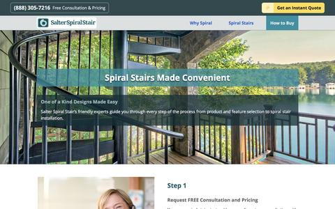 Screenshot of Pricing Page salterspiralstair.com - Custom Designed Spiral Staircase Prices | Salter Spiral Stair - captured May 27, 2017