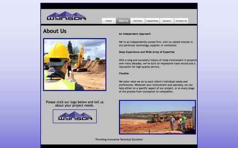 Screenshot of About Page wynsorenv.com - Wynsor Environmental LLC - captured Oct. 26, 2014