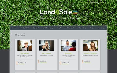 Screenshot of Team Page land4salewa.com.au - The Team - Land4Sale | Land is our BusinessLand4Sale | Land is our Business - captured Oct. 20, 2016