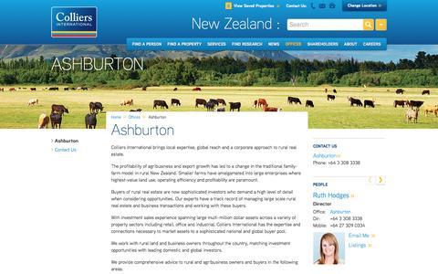 Ashburton Office | New Zealand | Colliers International