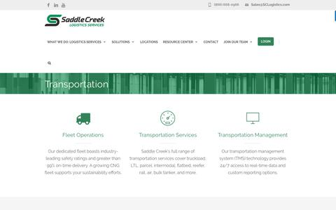 Transportation Solutions | Saddle Creek Logistics