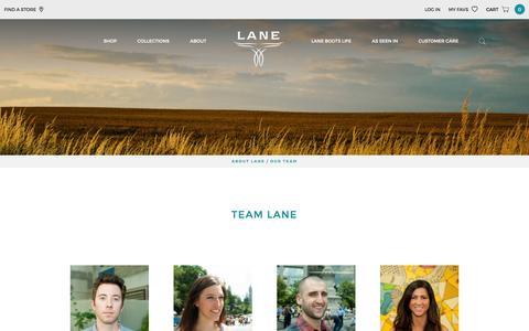 Screenshot of Team Page laneboots.com - Our Team | Lane Boots - captured Dec. 7, 2015