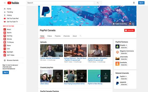 PayPal Canada  - YouTube