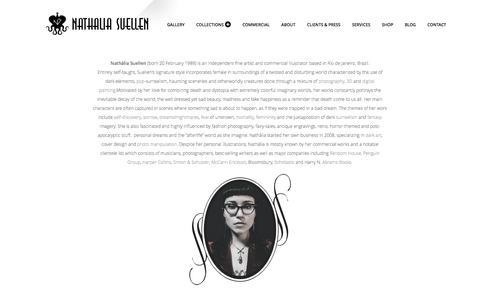 Screenshot of About Page nathaliasuellen.com - - Nathália Suellen (born 20 February 1989) is an... - captured May 12, 2016