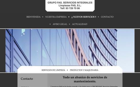 Screenshot of Terms Page limpiezasfas.com - : Servicios - captured Jan. 30, 2016