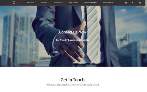 Screenshot of Contact Page mara.com - Contact | Mara Group - captured Oct. 26, 2015