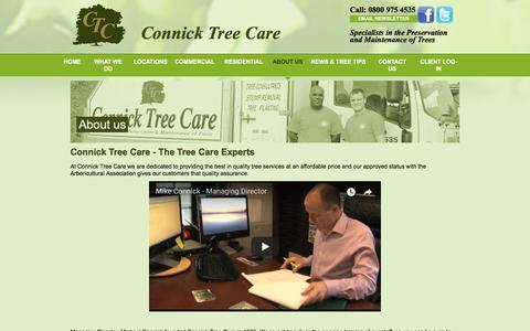 Screenshot of About Page connicktreecare.co.uk - Quality Tree Surgeons at Affordable Prices | Connick Tree Care - captured July 20, 2018