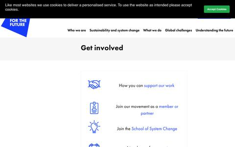 Screenshot of Contact Page forumforthefuture.org - Forum for the Future | Contact - captured Dec. 10, 2018