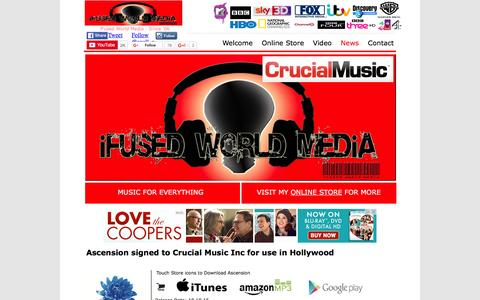 Screenshot of Press Page ifusedworld.com - Ascension in Hollywood - iFused World Media - captured Feb. 11, 2016