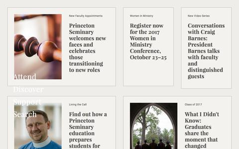 Screenshot of Home Page ptsem.edu - Home Page | Princeton Theological Seminary - captured June 22, 2017