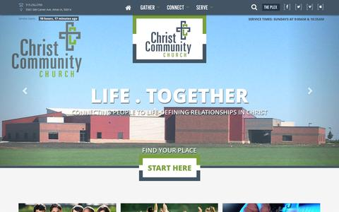 Screenshot of Home Page amesefc.org - Christ Community Church - captured Oct. 6, 2014
